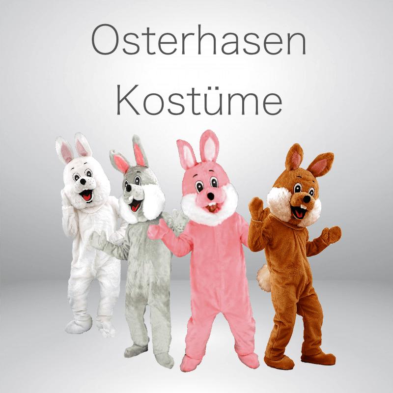 Osterhasen Maskottchen Kostüme für Lauffiguren.